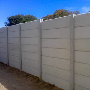 completed precast walling job